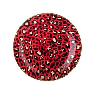 Marianna Mood 6'Lı Pasta Tabağı Kırmızı Leopar Kırmızı